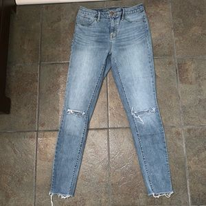 Mossimo Distressed High Rise Jeggings